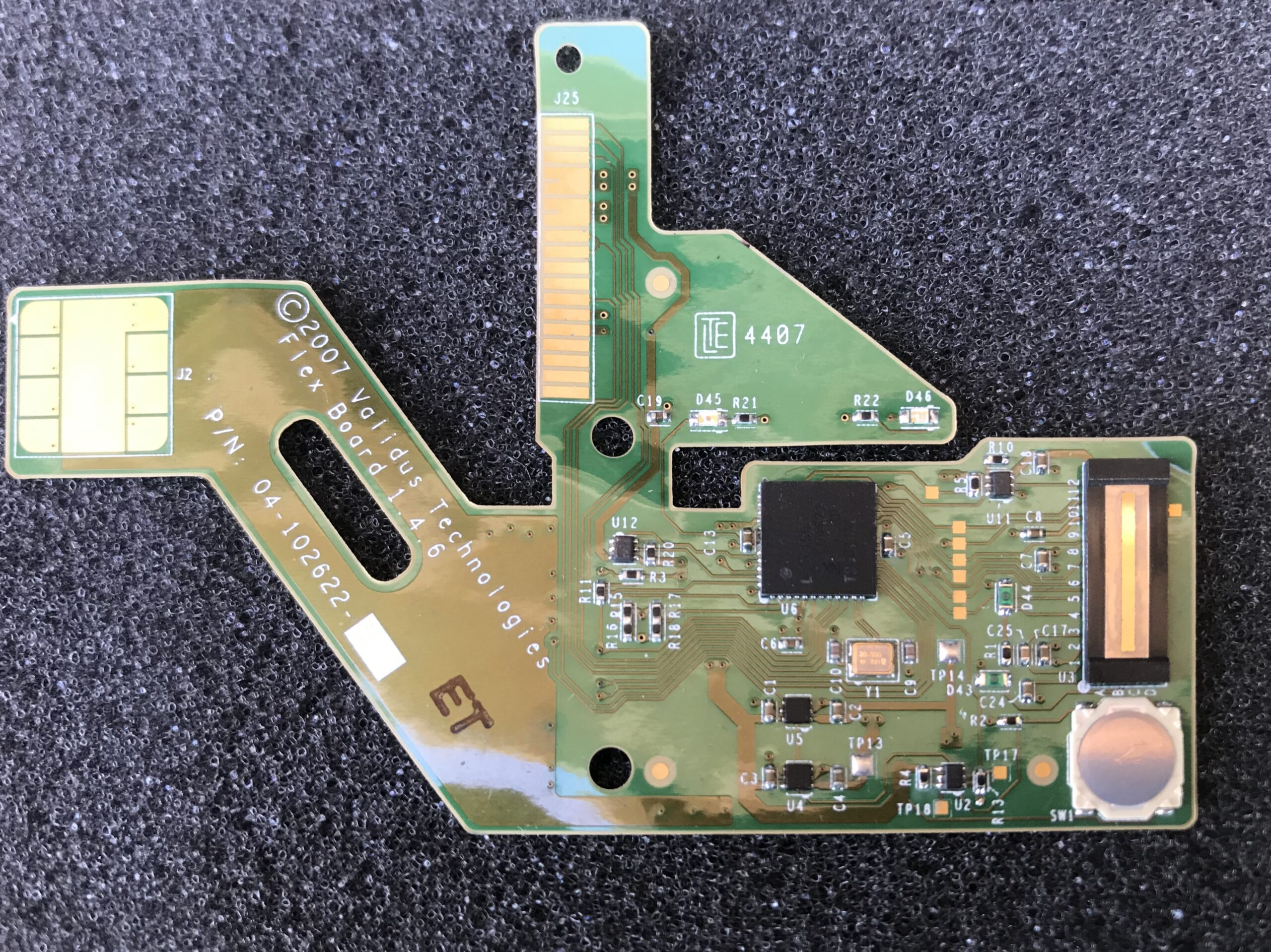 Custom engineered Biometric Credit Card with OTP and interactive display